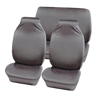 Grey Water Resistant Front & Rear Car Seat Covers for Jaguar XF All Years