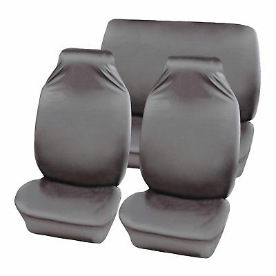 Grey Water Resistant Front & Rear Car Seat Covers for Volvo C70 All Models