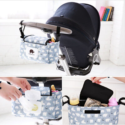 UK Baby Trolley Storage Bag Stroller Cup Carriage Pram Buggy Organizer Useful 1X