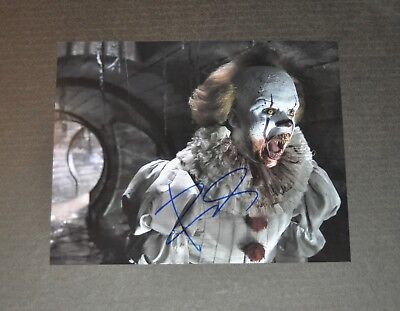 Signed 8x10 autographed photo RP BILL SKARSGARD IT