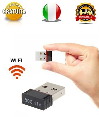 Chiavetta WiFi Usb 150Mbps Dongle Adattatore Wireless WLAN 802.11N ANTENNA WI FI
