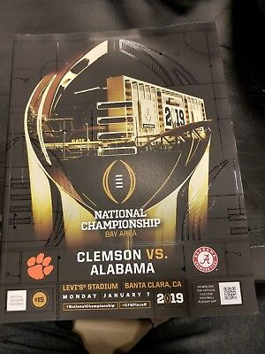 2019 Official National Championship game program - 216 pages - New - Clem - Ala