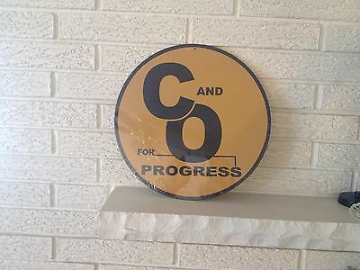 Chesapeake and Ohio (for Progress)  Round Logo steel Sign New