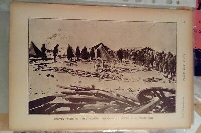 1904 Antique Print 'Younghusband in Tibet,' Coolies, from 'The Black and White'