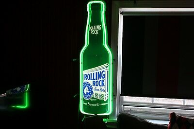 "Rolling Rock Neon Wall Light, Works / Nice !! 40"" Tall"