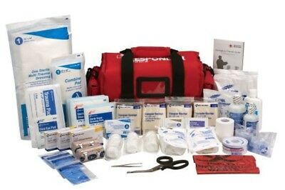 (NEW) First Aid Only First Responder Kit, Large Red Bag, 158 Pieces