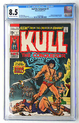 CGC 8.5 KULL THE CONQUEROR #1 * 1971 Marvel Comic * Robert E Howard REH * OW-W