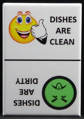 CLEAN / DIRTY Smiley Face & Mr. Yuck Face - Dishwasher Magnet. Creative Gift!