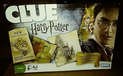 Clue Harry Potter Edition Board Game Parker Brothers 2008 Moving Hogwarts