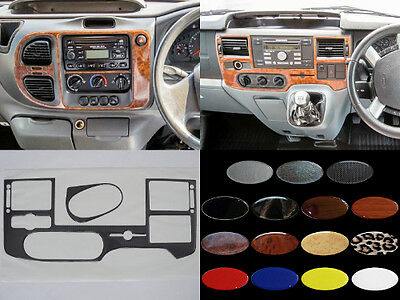 FORD TRANSIT Mk6 2000-2006 / Mk7 2006-2013 - Dash Trim Kit RHD - 15 colours