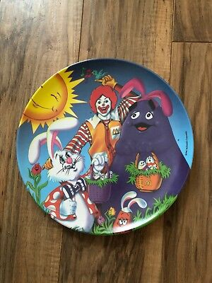 Vintage 1996 Ronald McDonald Grimace and Bunny Easter Collectors Plate