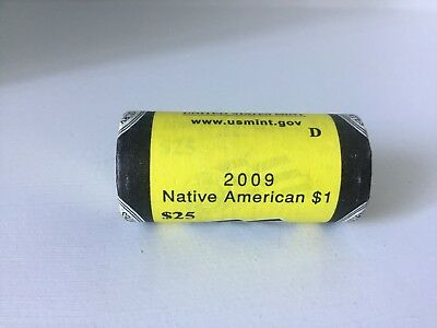 2009 D Sacagawea Dollar Roll Uncirculated Mint 25 Coins Native American Gold $1