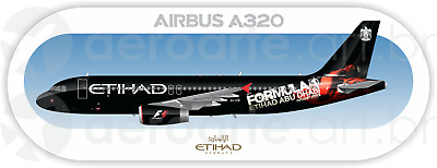 Airbus A320 aircraft profile sticker