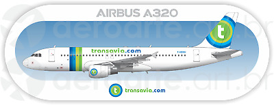 Airbus A320 Frontier aircraft profile sticker