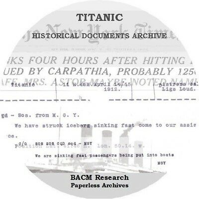 Titanic Disaster Historical Document Archive