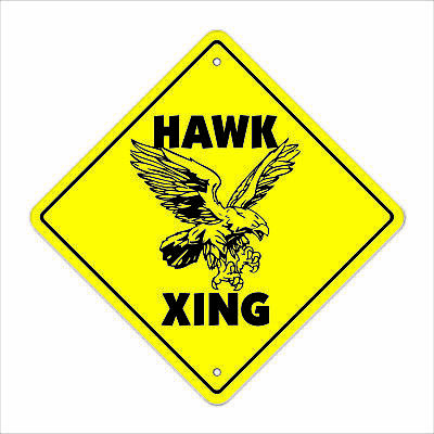 "Hawk Crossing Decal Zone Xing 12"" red tailed accipiter bird watcher birding love"