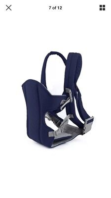 Adjustable Baby Carrier Breathable And Comfy With Support New,navy In Colour