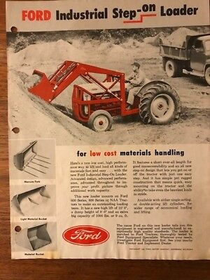 Ford Industrial Step-On Loader brochure from 1956