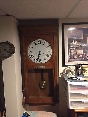 Antique Self Winding Clock Co Wall Clock New York