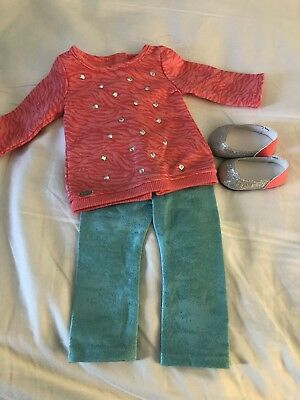 American Girl Doll leggings sweater Outfit