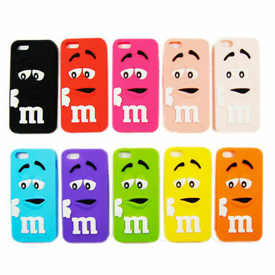 COQUE HOUSSE ETUI M M'S IPHONE 5/5S / 5C / SE silicone M&M'S MM'S
