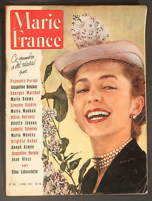 'marie-France' French Vintage Magazine 2 April 1951