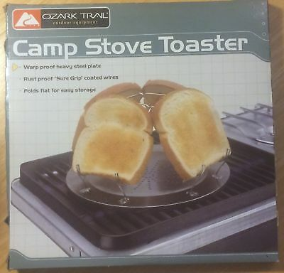 Brand New Camp Stove Toaster Ozark Trail Steel Plate Foldable