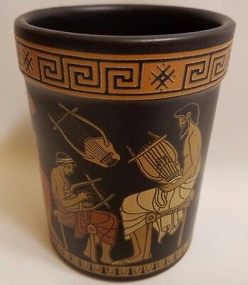 Archaeological Music School and Scenes Rare Ancient Greek Art Pottery Vase Cup