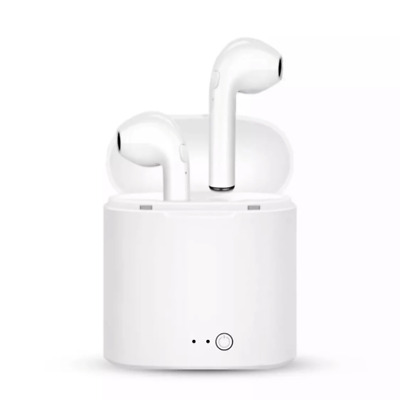 (NEW) *HIGH QUALITY* Airpods Style Wireless Bluetooth Earbuds w/ Charging Case