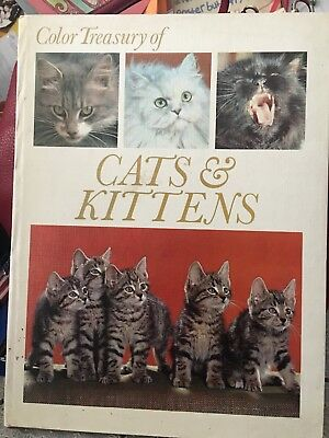 Color Treasury Of Cats & Kittens Book / Hard Cover / Used