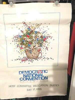 Democratic National Convention Atlanta 1988 Host Committee Delegation Print