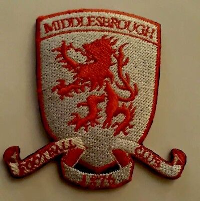 Middlesbrough FC Embroidered patch Badge Badges Football Club Patches