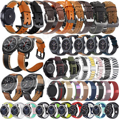 HOT Genuine Leather Stainless Steel Strap Band For Fossil Q explorist gen 4 22mm
