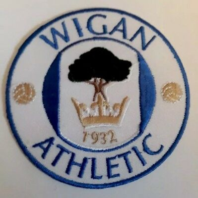Wigan Athletic FC Embroidered patch Badge Badges Football Club Patches
