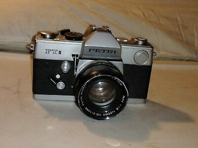 PETRI FT II 2 Camera with Lens UNTESTED - AS IS