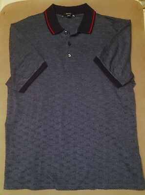 5269ad08248 Gucci Polo wed piquet GG Dark Blue Red Blue XXXL 100