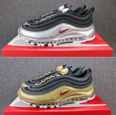 Nike Air Max 97 Metallic Gold Silver Qs-Og Gold New Shoes