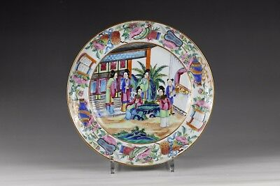 19th century, A rare of 'famille-rose' chinese porcelain plate