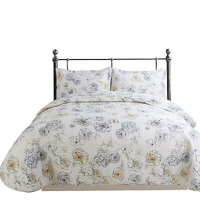 Hilin Fashion Microfiber Reversible Printing Quilt Set King Size With Shams,As B