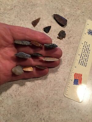 authentic indian arrowheads artifacts/Knife River Flint/ Bag #6