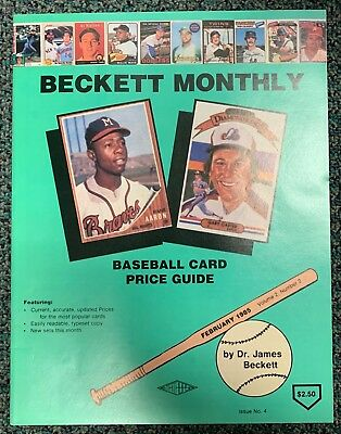 Beckett Baseball Issue #4 HANK AARON / GARY CARTER - February 1985