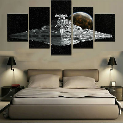 Framed Home Decor Canvas Print Painting Wall Art Star Wars Spacecraft Poster