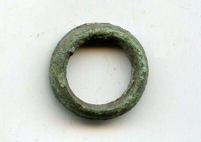 Nice thick ancient bronze Celtic ring money, 800-500 BC, Central Europe (ex-CNG)