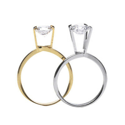 Jewelers Gem Stone Spring Prong Claw Holder Display Ring Chrome Setting