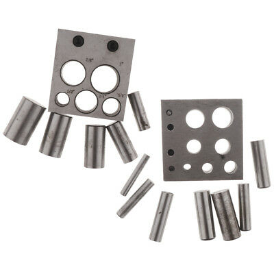 Jewelry Circular Round Cutting Disc Cutter 5/7 Hole Punch Set Metal Punching