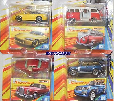Matchbox 2019 50Th Anniversary Superfast Set Of 4 Range Rover Vw Honda Mercedes