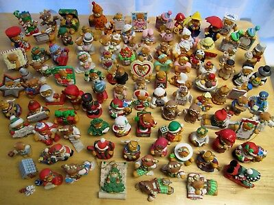 Huge lot of 101 ENESCO Lucy Rigg- Lucy & Me Bears- 1980-1997 Teddy Figurines