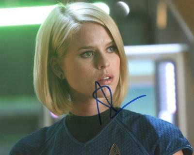Hot Sexy Alice Eve Signed 8X10 Photo Authentic Autograph Star Trek Coa B