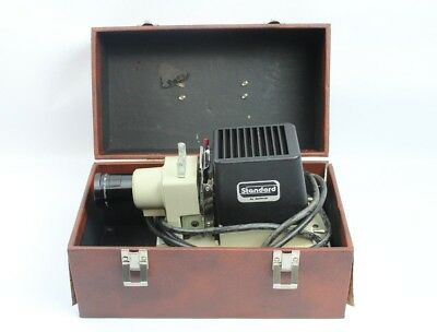 Vintage Standard 35mm Film Strip Projector Model 750RR-2 w/ Carrying Case
