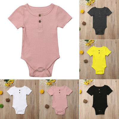 AU Newborn Infant Baby Boy Girl Kid Knit Romper Jumpsuit Bodysuit Clothes Outfit